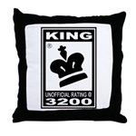 CHESS - RATED KING Throw Pillow