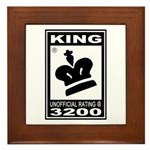 CHESS - RATED KING Framed Tile