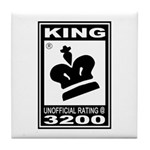 CHESS - RATED KING Tile Coaster