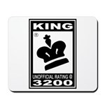 CHESS - RATED KING Mousepad