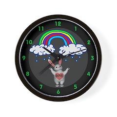 Love Bunny Wall Clock