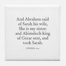 GENESIS  20:2 Tile Coaster