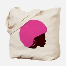 Pink Afro Tote Bag