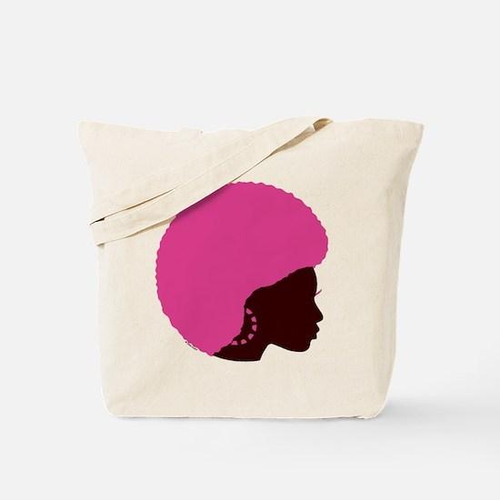 Pink Afro Tote Bag