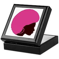 Pink Afro Keepsake Box