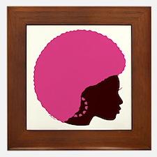 Pink Afro Framed Tile