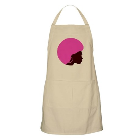 Pink Afro BBQ Apron