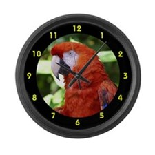Scarlet Macaw Large Wall Clock