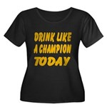 Drink Like a Champion Women's Plus Size Scoop Neck
