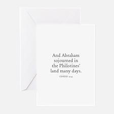 GENESIS  21:34 Greeting Cards (Pk of 10)