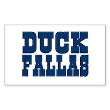 Duck Fallas Rectangle Decal