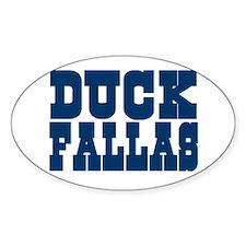 Duck Fallas Oval Decal