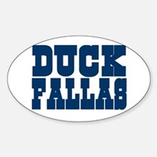 Duck Fallas Oval Decal