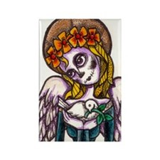 Day of the Dead dove Rectangle Magnet