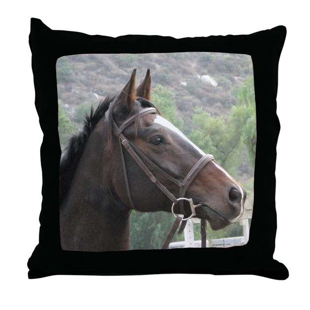 Thoroughbred Horse Head Pillow By Horses By Hawk