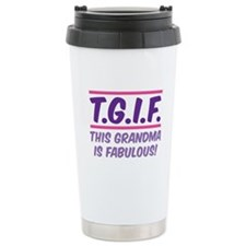 THIS GRANDMA IS FABULOUS! Ceramic Travel Mug