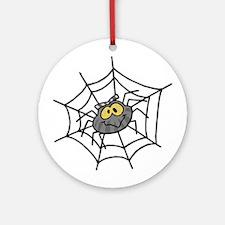 Cute Spider and Web Keepsake (Round)