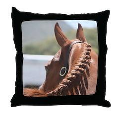 Braided Horse Throw Pillow