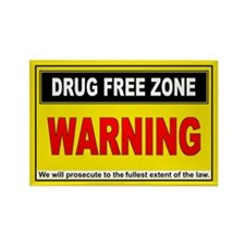 DRUG FREE ZONE Rectangle Magnet (100 pack)