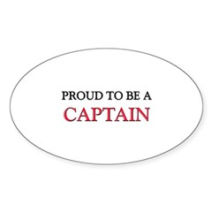 Proud to be a Captain Oval Decal