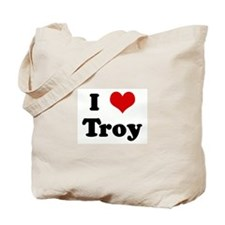 I Love Troy Tote Bag