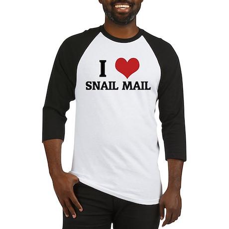 I Love Snail Mail Baseball Jersey
