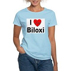 I Love Biloxi (Front) Women's Pink T-Shirt