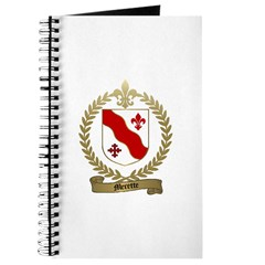 MERETTE Family Crest Journal