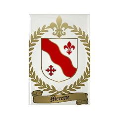 MERETTE Family Crest Rectangle Magnet