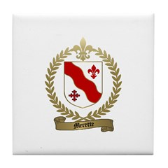 MERETTE Family Crest Tile Coaster