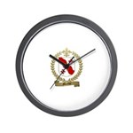 MERETTE Family Crest Wall Clock