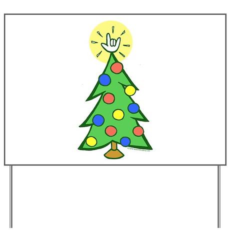 ILY Christmas Tree Yard Sign
