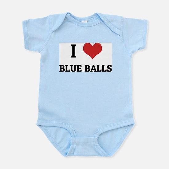 I Love Blue Balls Infant Creeper