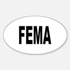 FEMA Oval Decal