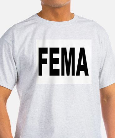 FEMA (Front) Ash Grey T-Shirt