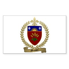 MESSIER Family Crest Rectangle Decal
