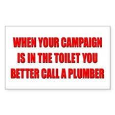 Call a Plumber Rectangle Decal