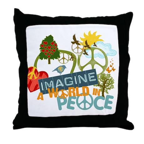 Imagine World Peace Throw Pillow