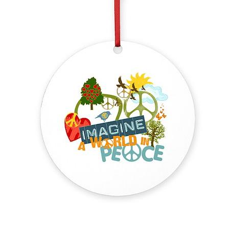 Imagine World Peace Ornament (Round)