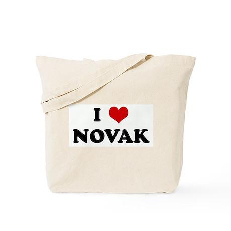 I Love NOVAK Tote Bag