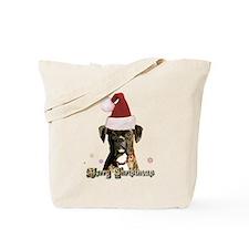 Christmas Boxer Dog Tote Bag