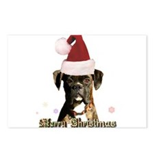 Christmas Boxer Dog Postcards (Package of 8)