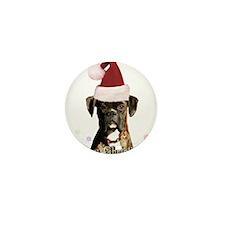Christmas Boxer Dog Mini Button (10 pack)