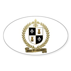MIUS d'ENTREMONT Family Crest Oval Decal