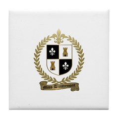 MIUS d'ENTREMONT Family Crest Tile Coaster