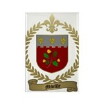 MIVILLE Family Crest Rectangle Magnet