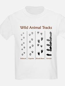 Wild Animal Tracks Ash Grey T-Shirt