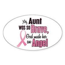 Angel 1 (Aunt BC) Oval Decal