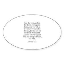 GENESIS 21:16 Oval Decal