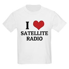 I Love satellite radio Kids T-Shirt